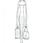 Travelling Mermaid.Franco Matticchio