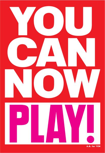 You can now play.Anthony Burrill